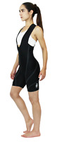 Astek Women's Black Padded Bibs Cycling Modest Performance Road Bike Shorts