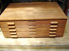 Antique 5-Drawer Oak Hamilton Blue Print Case or Map Case 477