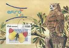Timbre Papillons Oiseaux Hiboux BF240 o lot 4980
