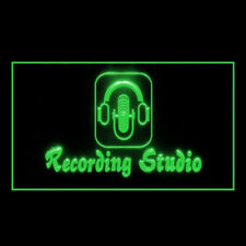 140035 Recording Studio Microphone Feature Furniture Display Led Light Sign