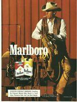 1987 Print Ad Marlboro cigarette Vintage 80's advertisement cowboy 1b