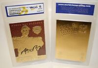 AARON RODGERS AUTOGRAPHED 2005 DRAFT PICK 23KT GOLD GEM-MT 10 RETRO ROOKIE CARD!