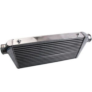 Universal Front Mount Turbo Intercooler Tube & Fin 600x300x76 3'' Silver