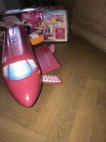 Barbie Flugzeug glam jet mit Geräusch & Karton
