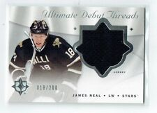 08-09 UD Ultimate Debut Threads  James Neal  18/200  His Number  Jersey  Rookie