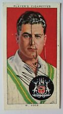 VOCE BILL NOTTS & ENGLAND TEST CRICKETER AUTOGRAPHED PLAYERS 1938 CIGARETTE CARD