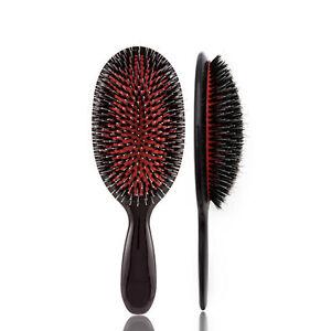 Oval Cushion Nylon Bristles Hair Brush & Backcombing Comb Hair Extension Brush