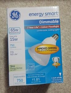 GE R30 CFL Light Bulb, 65W Replacement, Dimmable, Energy Smart, Soft White