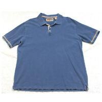 XL GH Bass Earth Blue Man's Cotton Polo Shirt Top Short Sleeve Men's X-Large G23