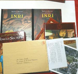 INRI 2 TIRAGES Signé No Ex-Libris  TRIANGLE SECRET 8 BD EO Coffret enveloppe