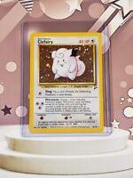 Clefairy 6/130 NM - Mint HOLOFOIL Rare Holo Base Set 2 Pokemon Card - A