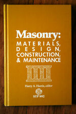 MASONRY: Materials, Design, Construction & Maintenance by Harry Harris 1988 ASTM