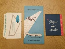 1950 Pan American Airlines PAA Strato Clipper Welcome Aboard Folder 2 Brochures