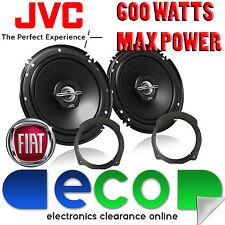 """Fiat Stilo 2001-08 5 Door JVC 17cm 6.75"""" 600 Watts 2 Way Rear Door Car Speakers"""