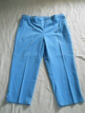 Liz Claiborne Hepburn Pants Womens 18W Pull On Elastic Waist Blue Flat Front