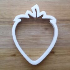 Strawberry Fruit Cookie Cutter Biscuit Pastry Fondant Stencil Silhouette Plant