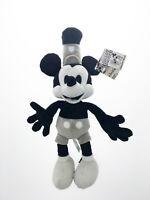 Peluche original Mickey Vintage Noir et blanc 40 cm Disney officiel 90°