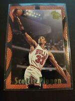 SCOTTIE PIPPEN 1995 TOPPS EMBOSSED #16 CARD CHICAGO BULLS NBA HOF LAST DANCE