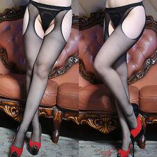 Donna Sexy Calzini RETE RETE COLLANT CORPO Collant aperto calze collant