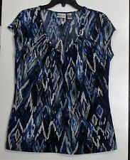 """DARLING Chico's """"Blue on Blues"""" Top- Size 2/ Misses L"""