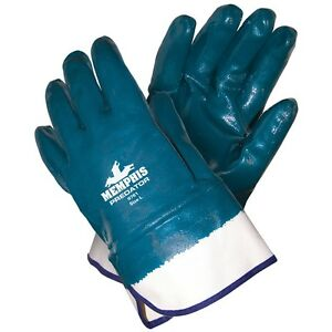 MCR 9761 LARGE  PREDATOR NITRILE GLOVES FULLY COATED SAFETY CUFF 6 DZ PAIRS