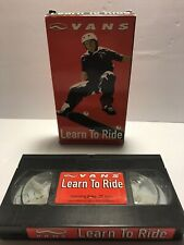 Vans- Learn To Ride - Instructional Skateboard Video - Vhs 2001 Dave Carnie