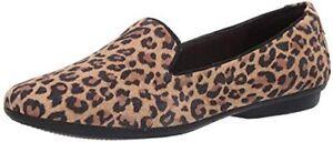 Clarks Women's Gracelin Pair Loafer Flats Leopard Print