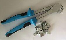 J-clip Pliers Heavy Duty J- clips plier FREE SHIPPING jclip blue comfort handle