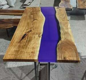 Handmade Natural Wooden Center Walnut Top Table Dining Room Decorative