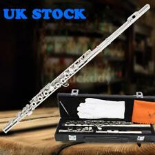 Western Concert Flute Cupronickel Plated Silver 16 Holes C Key with Acces C1L3