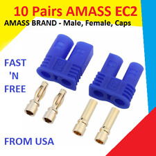 10 Pairs Amass EC2 Connector Plug for RC Car Plane Helicopter Battery Lipo ESC