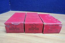 HORNBY PREWAR O #GOODS & BRAKE VAN EMPTY BOXES X 3 578962