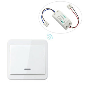Remote Control Light Switch Kit No Wiring - 110V 220V 433MHz - Default Power On