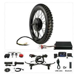 48V-72V 5000W 21''Motorcycle Rim Front +Rear Wheel Ebike Conversion Kit 26''x3.0