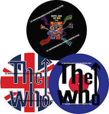 """THE WHO Union Jack Target Happy Jack  7"""" or 12"""" inch TURNTABLE platter MAT *new*"""