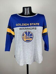 Women's NBA Golden State Warriors Multi-Colored Long Sleeve Basketball Shirt XL