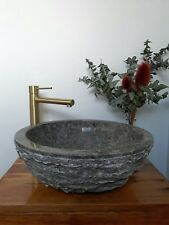 'Iris rough' Counter Top Vanity BASIN 40cm  MARBLE Rough HAND CRAFTED