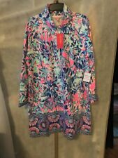 NWT LILLY PULITZER SKIPPER POPOVER DRESS MULTI CABANA COCKTAIL XL FREE SHIPPING