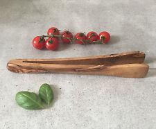 Olivenholz Zange / Grillzange / Salatzange / Handarbeit, 25cm