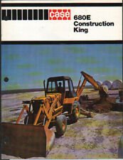 "CASE ""680E"" Construction King Backhoe Loader Brochure Leaflet"