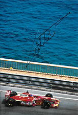 Jacques Villeneuve SIGNED 12x8 F1 Williams-Supertec FW20 , Monaco GP 1998