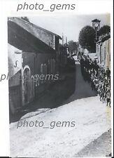 Circa 1940 World War II Poilus Marches Through German Town Original Wirephoto