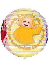 "Teletubbies La La and Po Birthday Party Decoration 16"" Clear Orbz Foil Balloon"