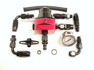 RSR Benzindruckregler SET XXL + Manometer schwarz VW Opel VR6 16V G60 Turbo 1,8T