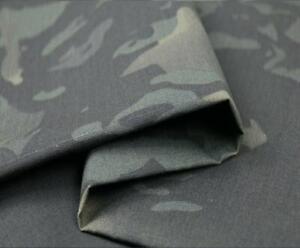 Black Camouflage TC Plaids MC BK Multicam Fabric Cloth DIY Camo Suits 1.5m Width