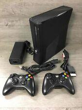 Microsoft Xbox 360 S 250Gb Video Game Console Bundle 1439 Black w/ 2 Controllers