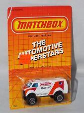 Matchbox Late 80s Release MB44 4x4 Chevy Van White w/ Matchbox Racing