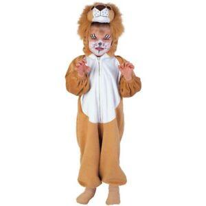 KINDER LÖWEN KOSTÜM # Karneval Fasching Tiger Tier Plüschkostüm Jungen Mädchen