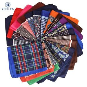 Mans Stripes Flower Pocket Square Hanky Big Size Handkerchief For Wedding Party