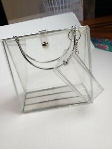 Clear Plastic Metal Lined Purse Bag Mini Bag Detachable Y2K Vintage Fashion 90's